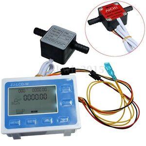 3-8-034-Liquid-Flow-Control-Oil-Fuel-Gasoline-Diesel-Water-Gear-Sensor-LCD-Display