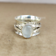 Moonstone-925-Sterling-Silver-Spinner-Meditation-Statement-Ring-Size-5-5-A12 thumbnail 1