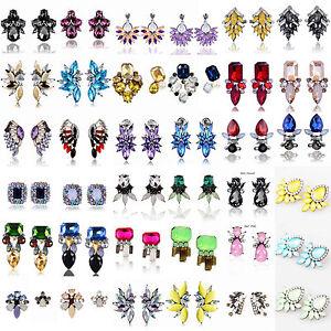 Fashion-Charm-Women-Jewelry-Rhinestone-Crystal-Resin-Ear-Stud-Eardrop-Earring