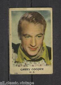 Gary-Cooper-Vintage-Movie-Film-Star-Trading-Card-Warner-Bros-106