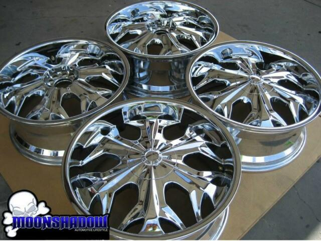 20 Akuza Reaper 508 Chrome Wheels Rims Dodge Charger Chevy 20x8 5