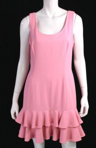ESCADA Bubblegum Pink Wool Twill Sleeveless Ruffle