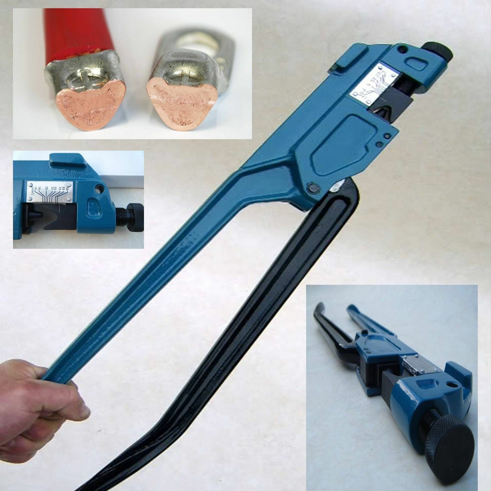 120mm Indent Lug Cable Crimper Tool Battery Wire Crimpers Crimping ...