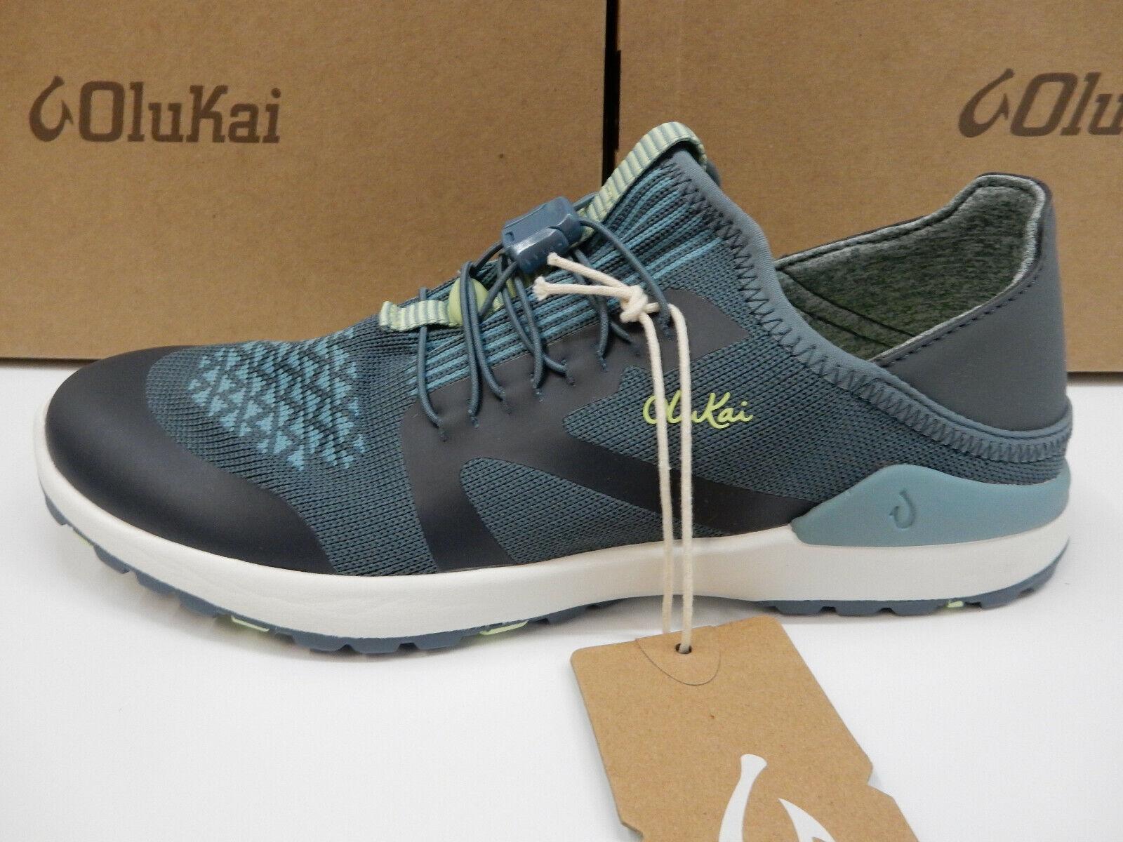 Olukai Womens Miki Trainer Iron Mineral bluee Size 9