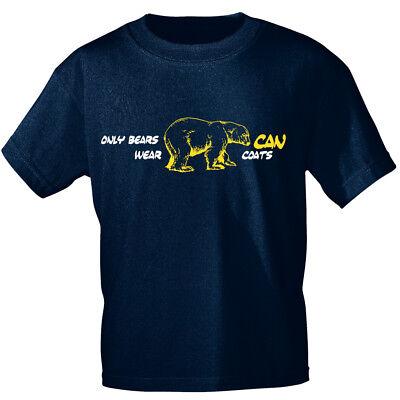 T-Shirt unisex S 3xl Eisbaer Icebear Only Bears CAN wear coats 10147 blau
