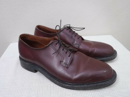 Men's Vtg WALK OVER 10 Brown Leather Lace Up Naile
