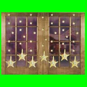 led weihnachtsbeleuchtung lichterkette lichtervorhang sternenvorhang fensterdeko ebay. Black Bedroom Furniture Sets. Home Design Ideas