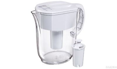 Brita Pacifica Water Filter Pitcher with 1 Replacement Filter 10 Cup White