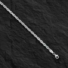 """14kt SOLID WHITE Gold ROPE Pendant link Chain/Necklace 20"""" 2 mm 4 grams WRO14"""