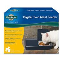 Petsafe Digital Two Meal Pet Feeder Custom Programmable Cat Small Medium Dog