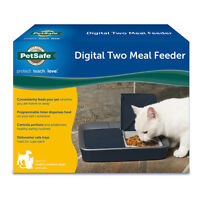 Petsafe Digital Two Meal Pet Feeder Custom Programmable Cat Small Medium Dog on sale