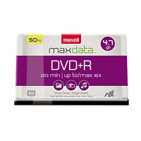 Maxell Dvd+r Discs 4.7gb 16x Spindle Silver 50/pack 639013 on sale