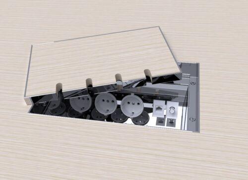 Fußbodendose,Bodensteckdose Edelstahl V2A Einbausteckdose
