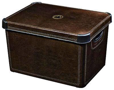 Curver Aufbewahrungsbox Box Kiste Kunstoff Organizer Leder XL GER CUDX1584