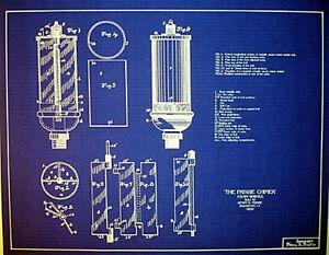 Details about Antique Brass Steam Whistle 1891 Frisbie Chimer blueprint  plans 18x24 (205)