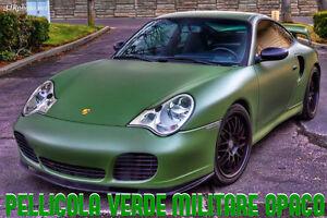 PELLICOLA-ADESIVA-CAST-VERDE-MILITARE-OPACO-ANTIGRAFFIO-CAR-WRAPPING-TUNING-AUTO