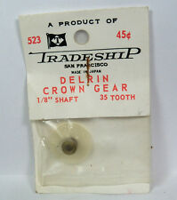 """Vintage Slot Car Part - #523 Tradeship Delrin Crown Gear  35 Tooth  1/8"""" Hole"""