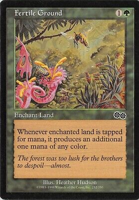 Fertile Ground *PLAYSET* Magic MtG x4 Urza/'s Saga SP