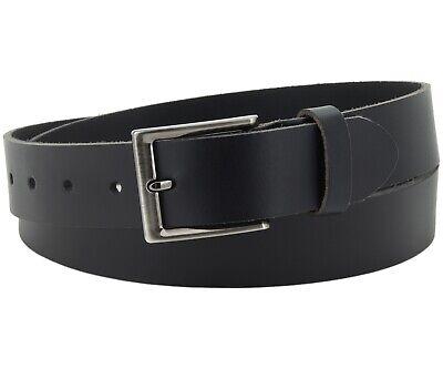 UnermüDlich Büffel Ledergürtel 3,5 Cm Herren Damen Belt Echt Voll Leder Gürtel Schwarz Nr.18