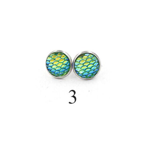 résine des bijoux oreille étalon les écailles de poisson boucles d/'oreilles