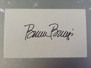 Bruce Berenyi Signed 3x5 Index Card