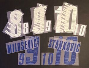 SERBIA-NOME-NUMERO-UFFICIALE-HOME-AWAY-FIFA-WC-2006-OFFICIAL-NAMESET-PLAYER-SZ