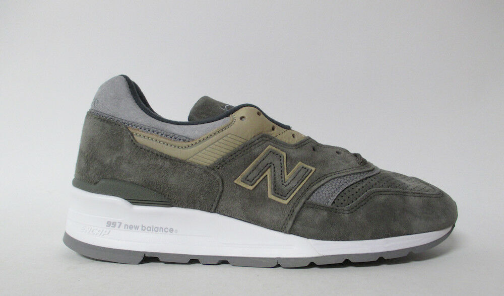 New Balance 997 Made in USA Grey Tan M997FGG Suede White Sz 9 M997FGG Tan bab14f