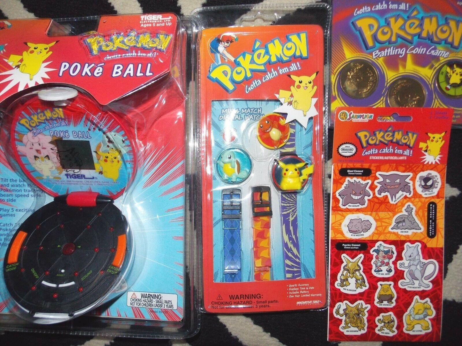 1998 1999 juego Portátil Tiger Pokeball de Pokemon Pikachu Charizard Reloj Pegatina