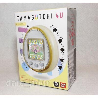 BANDAI TAMAGOTCHI 4U White Tamagocchi Japanese ver. F/S Japan + Tracking number