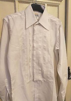 Mettere In Guardia Vintage Designer Camicia Bianca Cosplay Shirt By Carston Di Londra Taglia M-mostra Il Titolo Originale Guidare Un Commercio Ruggente