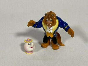 RARE-90-039-s-Disney-Beauty-and-the-Beast-Figurines-The-Beast-and-Mrs-Potts