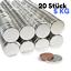 20 x Neodym Magnet Scheibe N52 20x3mm 5Kg Stark Scheibenmagnet 20mm Durchmesser
