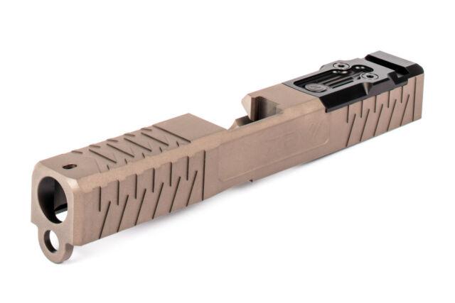 Zev Technologies Glock 19 Gen 4 Slide Enhanced SOCOM W/ DeltaPoint Pro Cut  - FDE