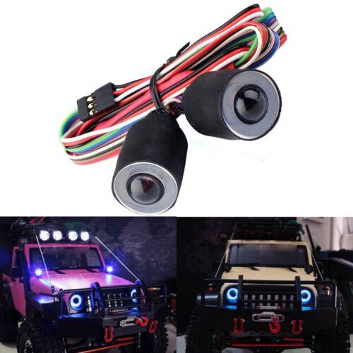 RC Car LED Lights Headlight for 1//10 RC Rock Crawler Axial SCX10 D90 Body