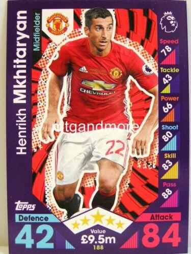 Match coronó 2016//17 Premier League #188 henrikh mkhitaryan-Manchester United