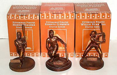 2005 Pittsburgh Pirates Statues Roberto Clemente, Willie Stargell & Honus Wagner