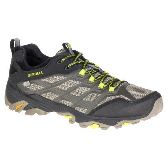 NEW - MERRELL Men's MOAB FST J37607 Grey   Black   Volt HIKING BOOTS - 11E   45