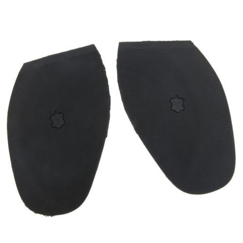 Rubber Glue on Half Soles Anti Slip Shoe Repair Tips Pads Replacements Black