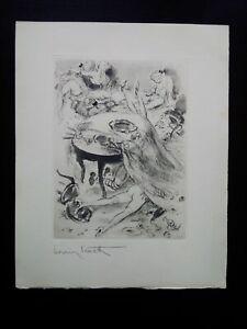 Rare louis icart orgy engraving signed curiosa scene debauchery galante perfect condition
