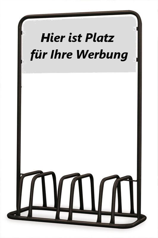 3er 3er 3er Fahrradständer mit Werbe-Schild - schwarz - c88641