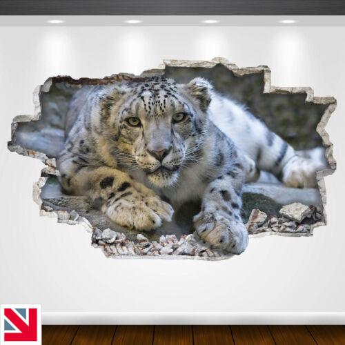 SNOW LEOPARD BIG CAT MAMMAL ANIMAL Wall Sticker Vinyl Decal Mural Poster