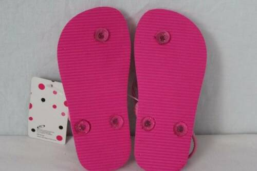 NEW Toddler Girls Minnie Mouse Sandals Large 9-10 Flip Flops Shoes Disney