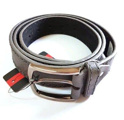 ds Cinta Cintura Uomo Pelle Marrone A-391 Glamour Fashion Alla Moda hac