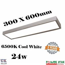 Commerciale Industriale Superficie Supporto Led Soffitto Bianco 300 x 600 Luce