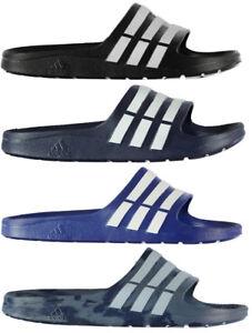 on sale 49a34 ab7d6 ... Adidas-Duramo-Slide-Homme-Tongs-Sandales-Noir-amp-