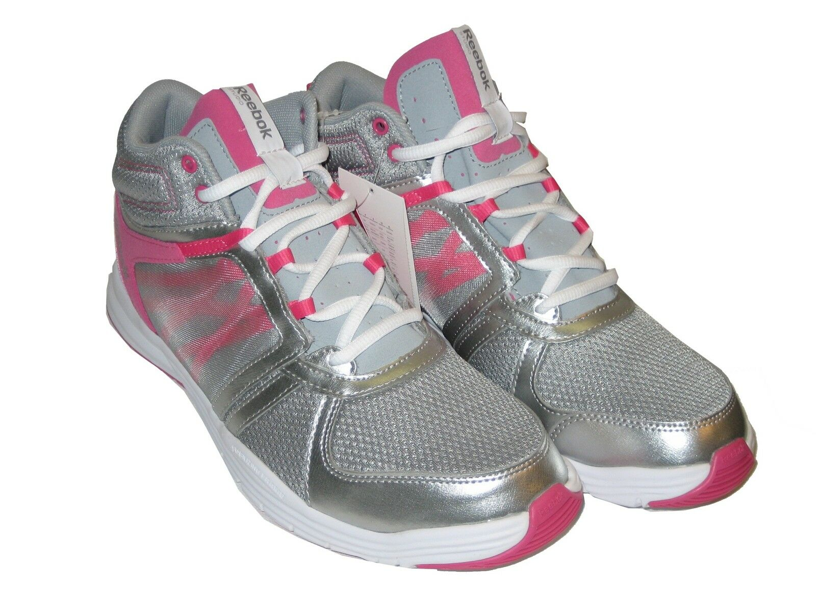 Reebok Sublite Studio Flame M42411 Grey Silver Pink White Fitness Fitness Fitness Schuh Women 7311d3