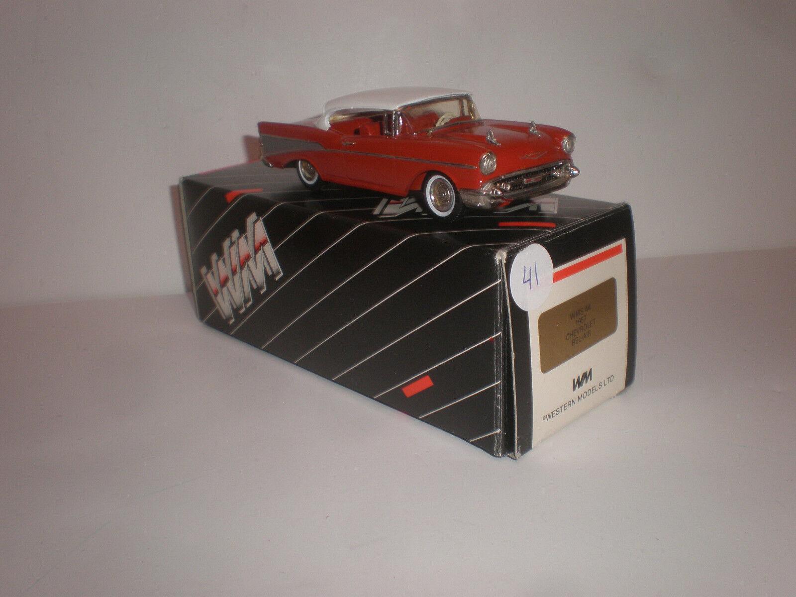1 43 1957 Chevrolet Bel Luft Hardtop-Coupé Wms 44 Western Models Handgefertigt
