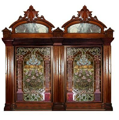 Pair of Stained Glass Windows 19th Century  John LaFarge  #4454B