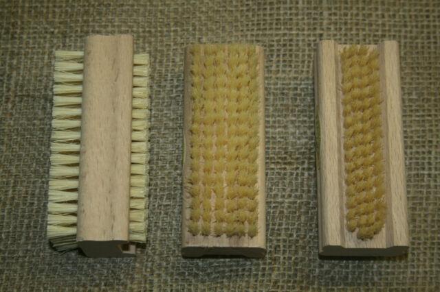 3 Stück Nagelbürste, Handwaschbürste, Handwerkerbürste, natur, Handbürste, neu