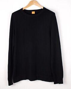 HUGO-BOSS-Men-Wool-Cotton-Knit-Jumper-Sweatshirt-Size-L-ATZ1047